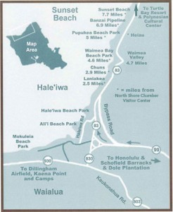 North Shore - Oahu Map